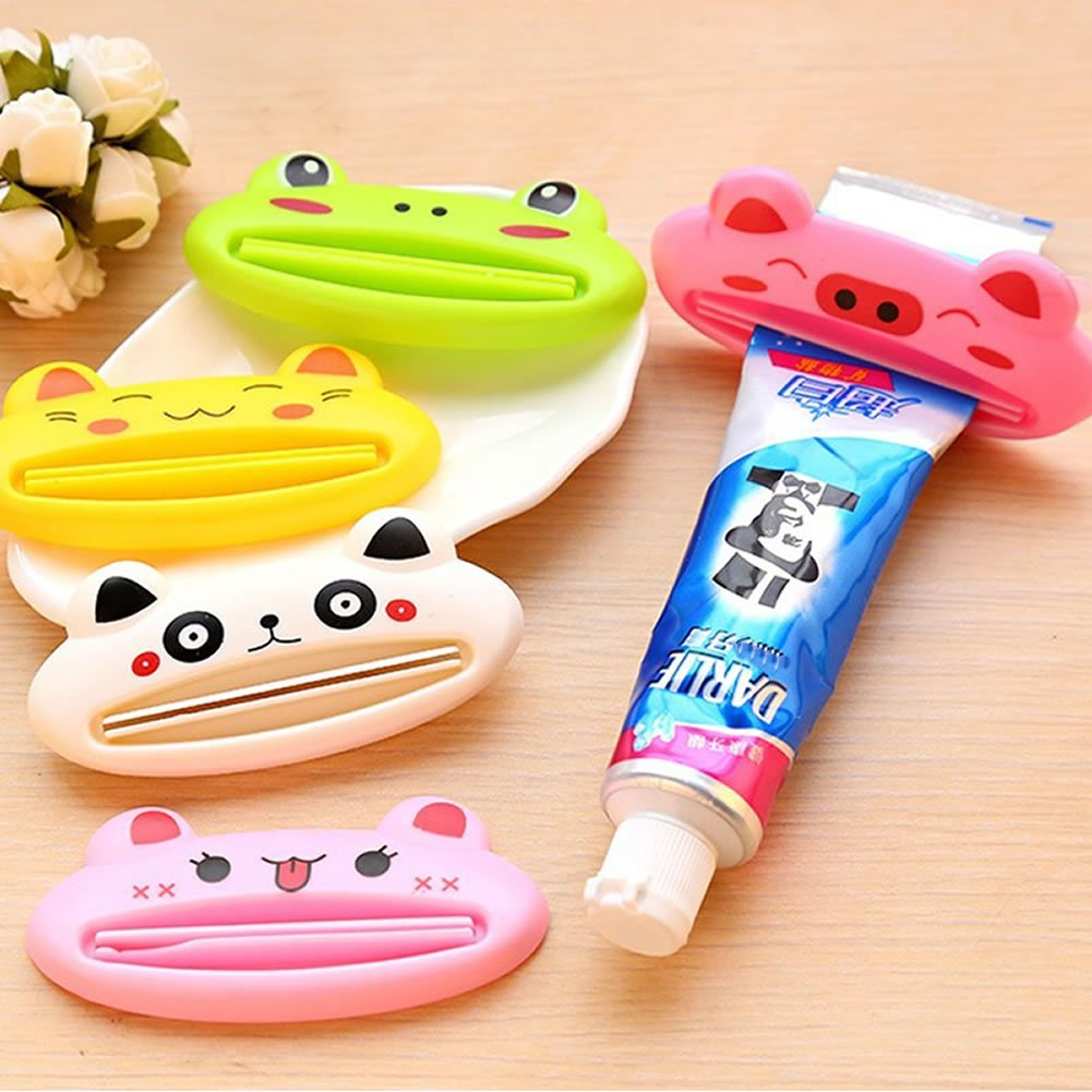 Generic Multifunction Funny Automatic Toothpaste Machine Rolling Cute Cartoon Toothpaste Squeezing Device Cleansing Cream Squeezer Roller
