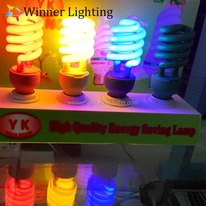 Energy Saving Light Bulbs Red Yellow Bule Green Colored Cfl Fluorescent Lamps
