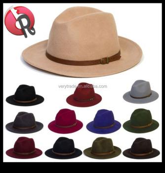Women Men Soft Floppy Fedora Panama Hat Wide Brim Black Beige Caps Wool Sun  hat 21c292bb26b