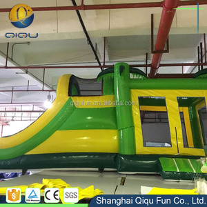 top quality air bouncer inflatable water slide with pool trampoline