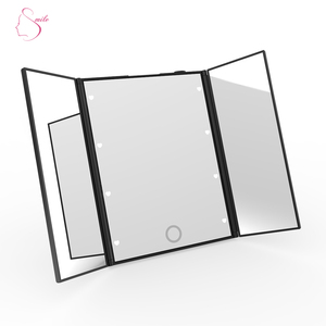 Pocket Travel Smart Vanity Mirror Led Cosmetic Makeup Mirror With Lights