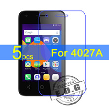 5pcs Ultra Clear LCD Screen Protector Film Cover For Alcatel One Touch pixi 3 4.5″ pixi3 OT 4027A Protective Film  +  cloth