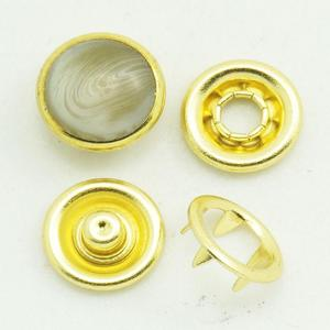 gold color horn pearl snap fastener