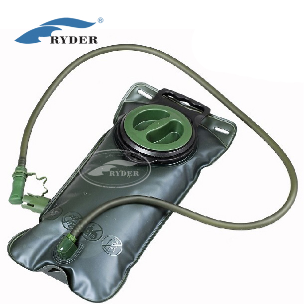 FDA Customized TPU Army Green Foldable Military Wide Input Hydration Water Bladder Bag Reservoir Professional Manufacturer