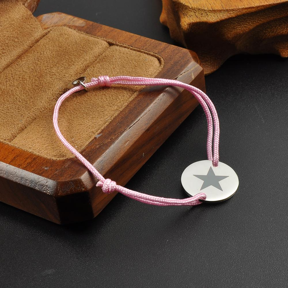 Wholesale Trendy Custom Star Charm Metal Charm Handmade Adjustable Boy And Girl Friendship Bracelets