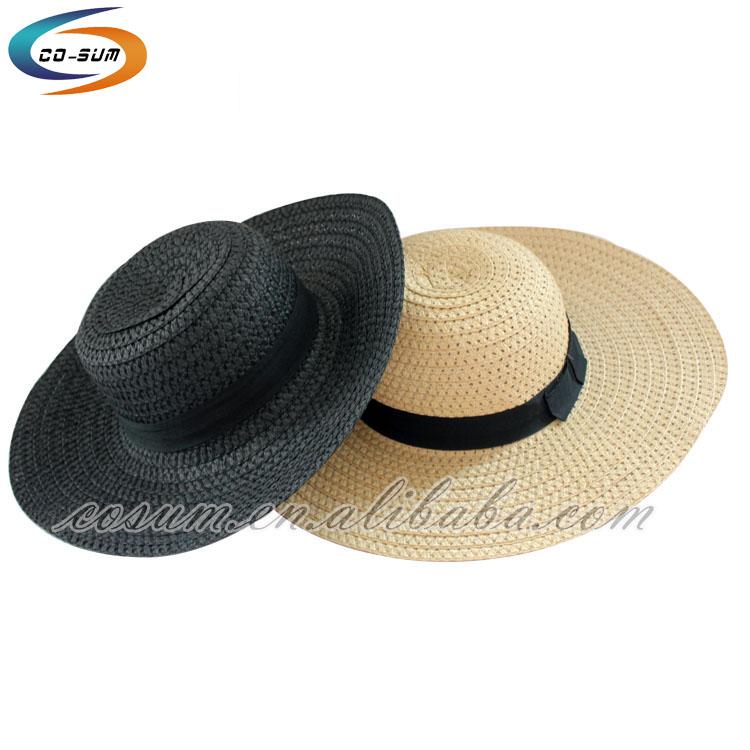 Unisex panama beach straw hat fashion beach mexican sombrero wide brim hat 9671ae09a24