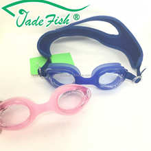pink and blue color top sell safety goggles fitness funny children swimming goggles