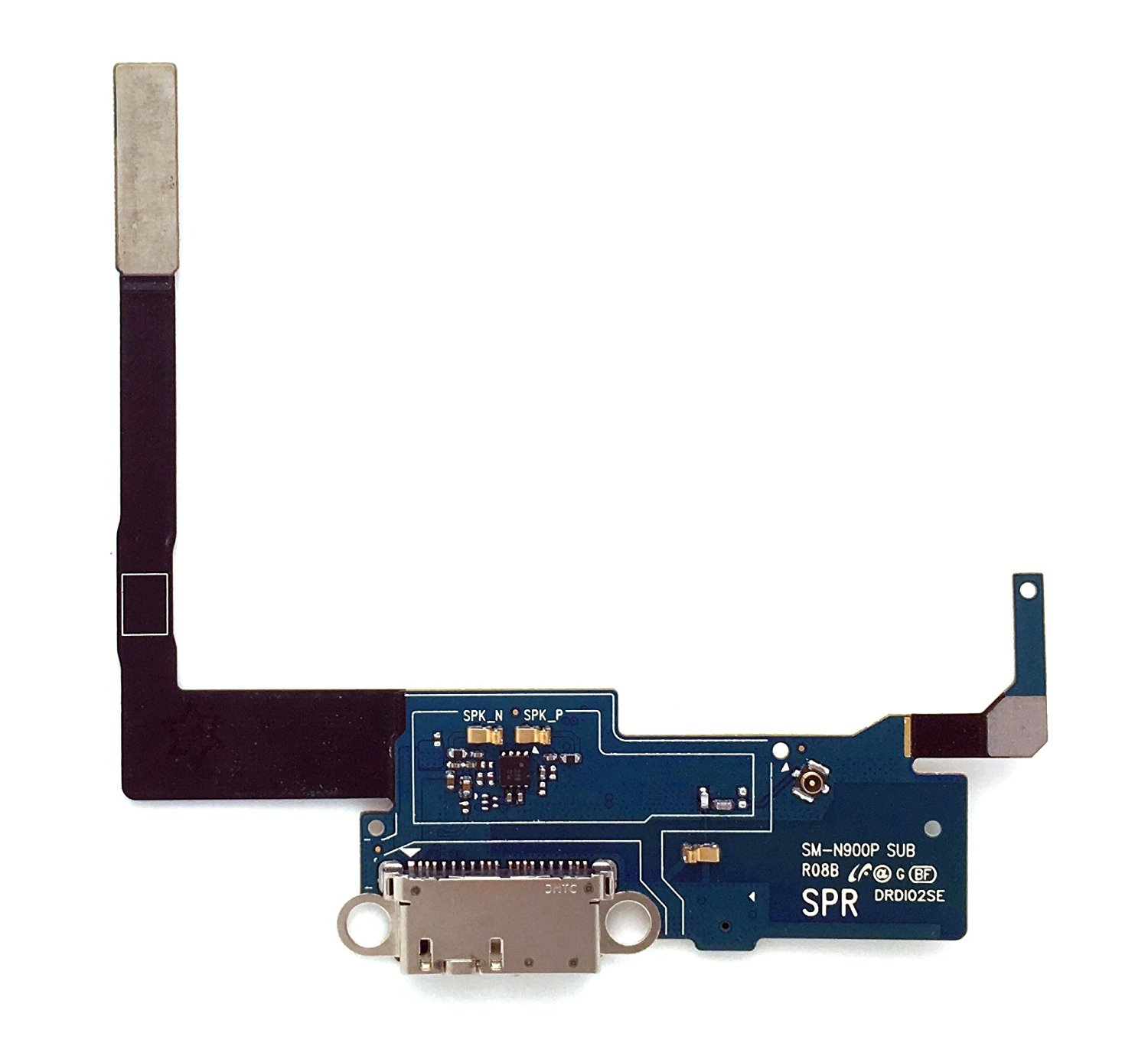 SBOS® Samsung Galaxy Note 3 N900P - SPRINT Charging Port Flex Cable Dock Connector USB Port With Mic Microphone Flex Cable Repair Part N900P
