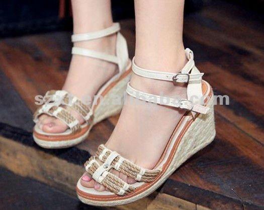 Latest Design Sandals 2012 Wedges Heel Girls Sandals Light Shoes ...