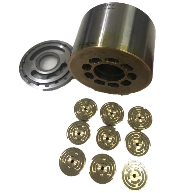 KAYABA PSVD2-17E PSVD2-27E,PSVD2-21 hydraulic pump valve plate cylinder block