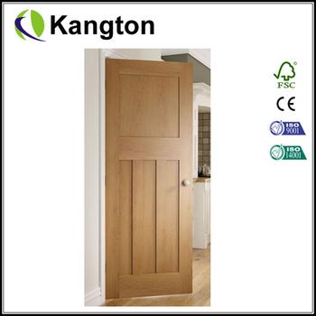 Oak Cambridge Interior Oak Shaker Door Crown Cut Veneer Door Buy