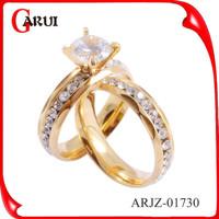 Fashion engagement ring Jewelry Wholesale gold weeding diamond Rings
