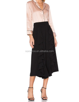 a879fe626e Latest Formal Long Skirt Blouse With Side Frills For Lady - Buy ...