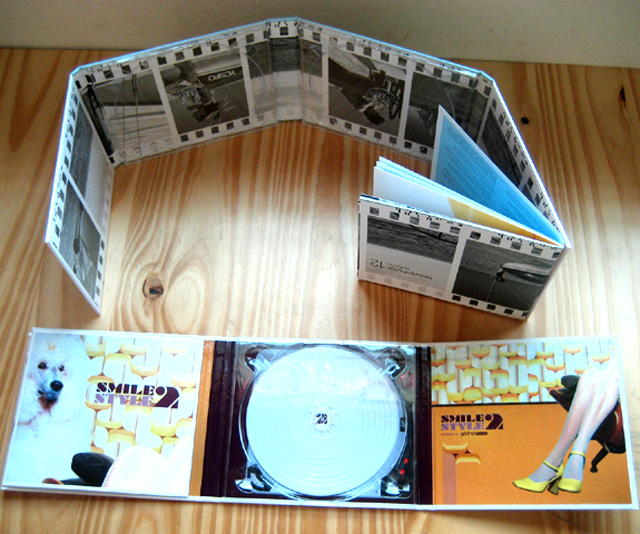 Fancy 6 panel hard board cd dvd Digipak met boekje