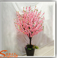 home artificial pink peach blossom trees fabric flowers cherry trees bonsai for spring
