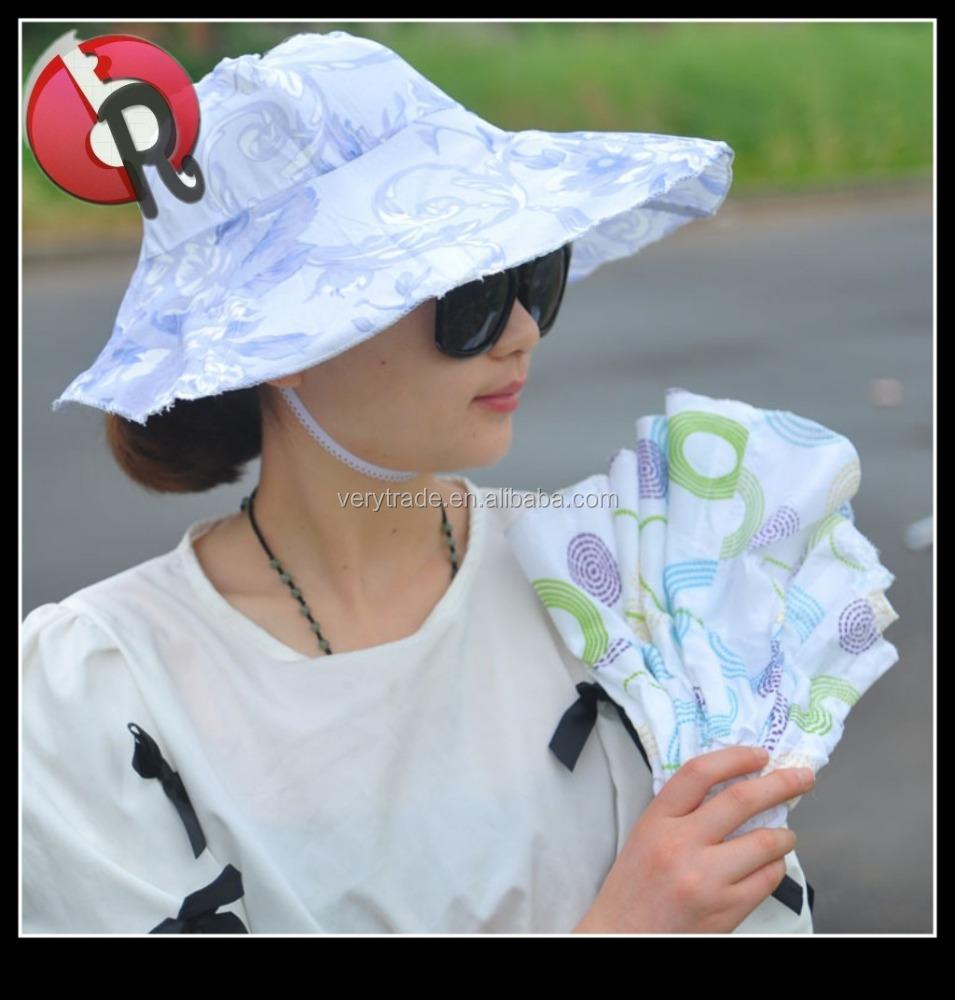d478864d Chinese style plastic folding fan hat