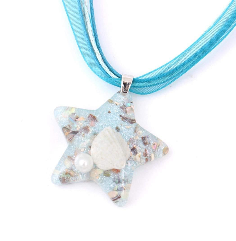 LLguz Simple Women Fashionable Personality Beach Starfish Conch Shell Necklace Marine Element Pendant Jewelry Ornament