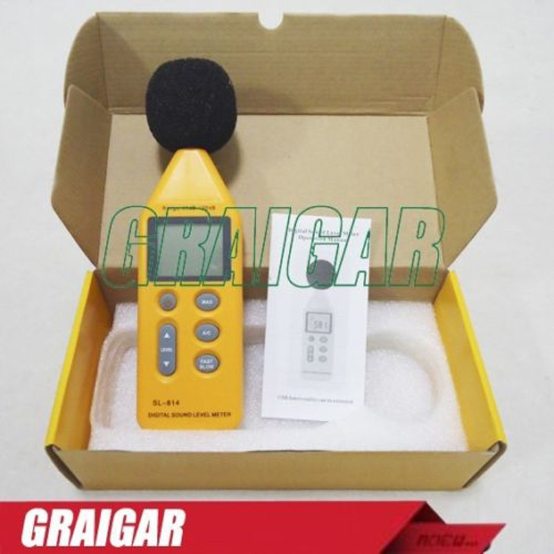 New SL-814 Digital Sound Level Meter Decibel Logger Tester Noise Meter 30-130dB
