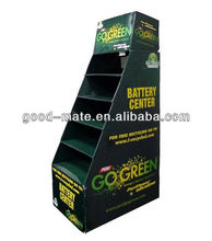 Corrugated Cardboard Battery Chargers Display Rack