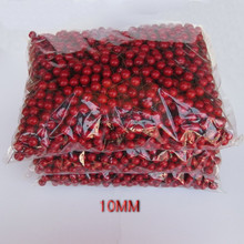 10mm artificial decoartive ornament red berry pick for christmas decoration