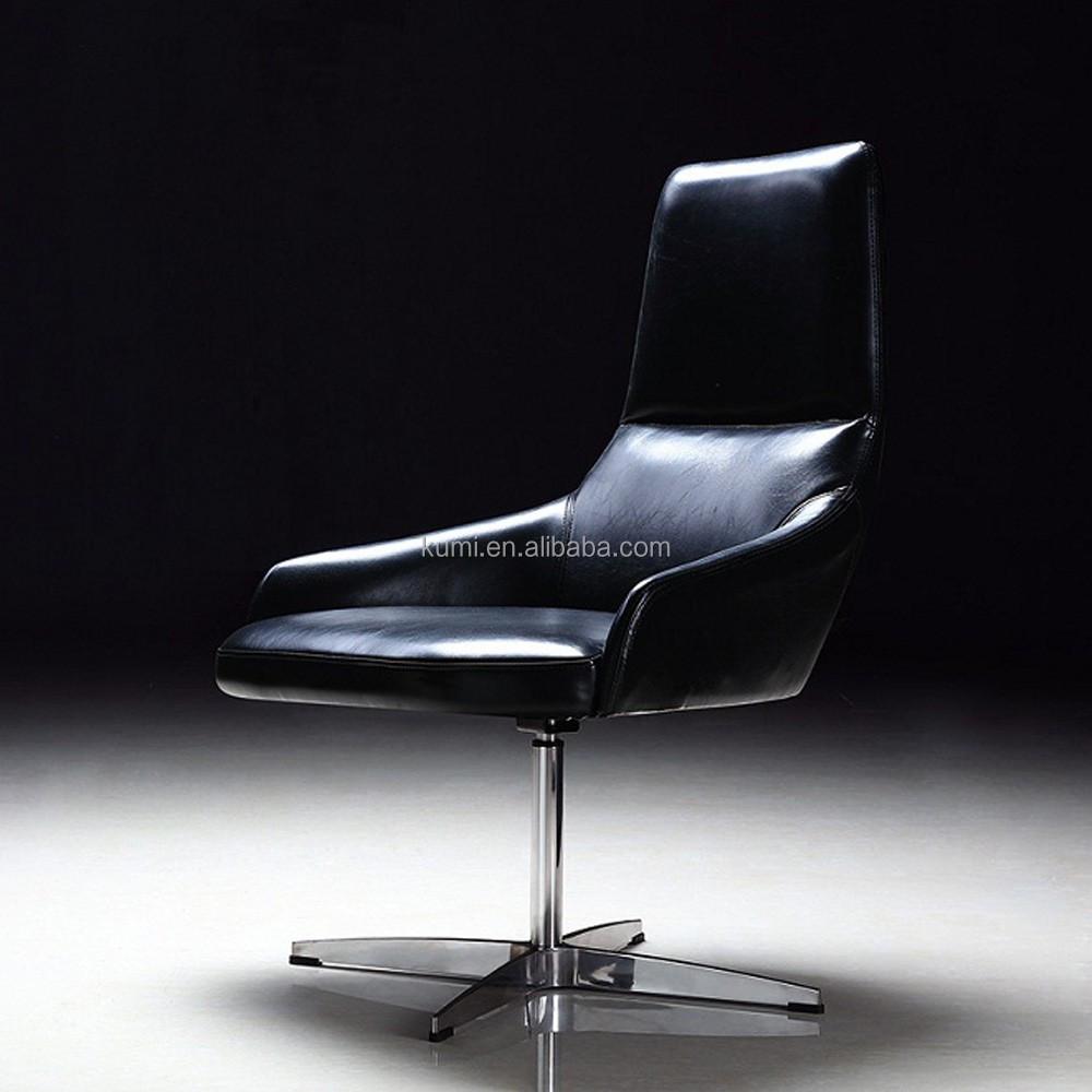 Moderne swivel lederen lounge chaise stoel metalen stoelen product id 60464980227 - Moderne stijl lounge ...