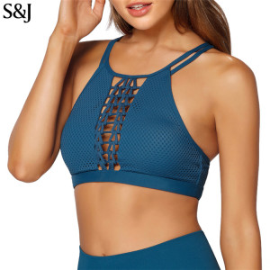 Custom Strappy Sexy Women Yoga Clothes Tops Sports Bra