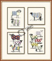 Modern sheep painting artwork for hotel