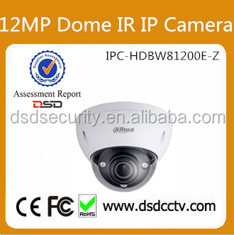 Zhejiang Dahua Technology CO Ltd DH-IPC-HDBW81200E-Z 4K 12MP IR Network Dome Dahua Distributor Camera With Motorized Zoom Lens