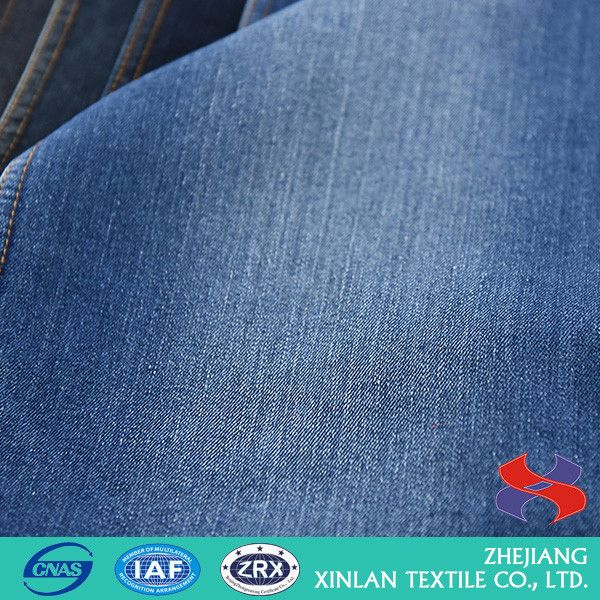 Factory Sale OEM design knitted fabric textile poly jean fabric for wholesale