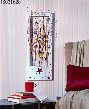 Wand Dekoration Baum Leuchtet Innen Wandbehang, 10 Led Leuchten, 3xAA  Batterie Box
