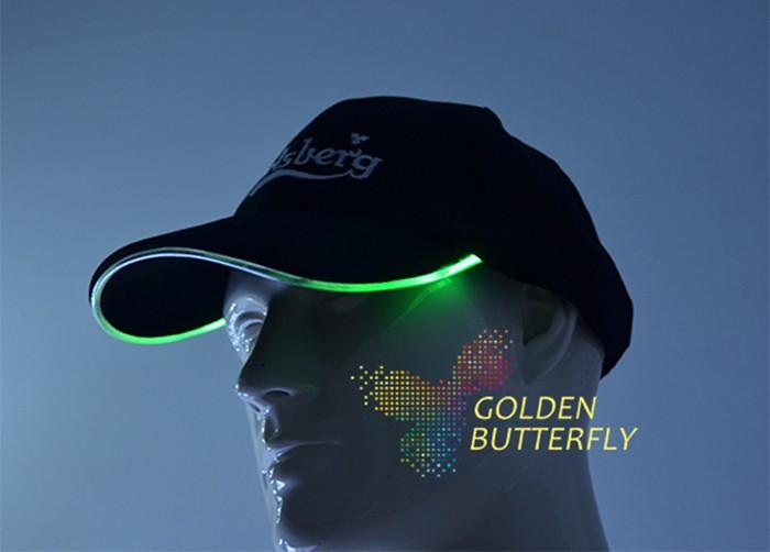 5ee040e54f24 EL Peaked cap 2017 luminous Caps Monochrome Full color luminous Baseball  strange helmets Glowing Party Headgear - us496
