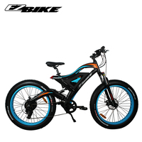 Best manufacture high quality fast speed full suspension snow fat tire 48 volt 500w 750 w electric mountain bike from China