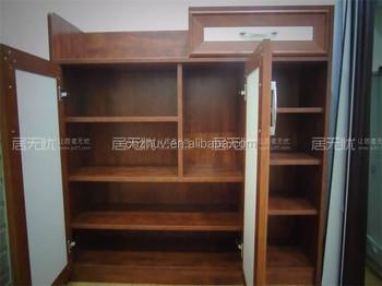 Delicieux Antique Wooden Open Shelf Closed Shoe Rack Cabinet
