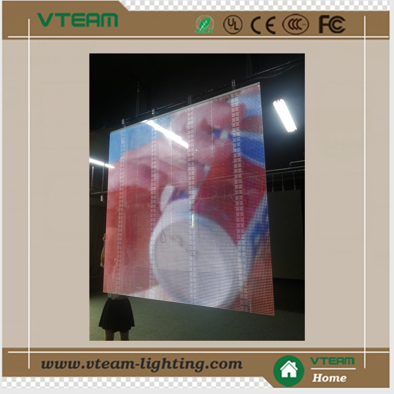 China Outdoor Advertising Glass Led Transparent Video Wall Screen ...