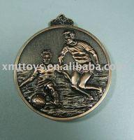 zinc alloy sports soccer medal for souvenir