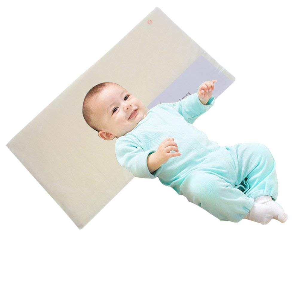 Anti-Spit Milk Baby Crib Pillow Wedge Infant Reflux Reducer Nasal Congestion Reducer High-Density Stereotype Sponge Pillow Newborn Baby Sleep Positioner with Cotton Removable Cover Pregnancy Pillow
