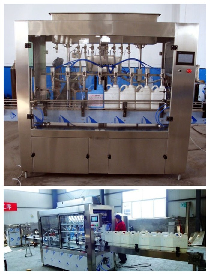 5-20L semi automatic liquid filling machine for Diesel exhaust fluid / car urea