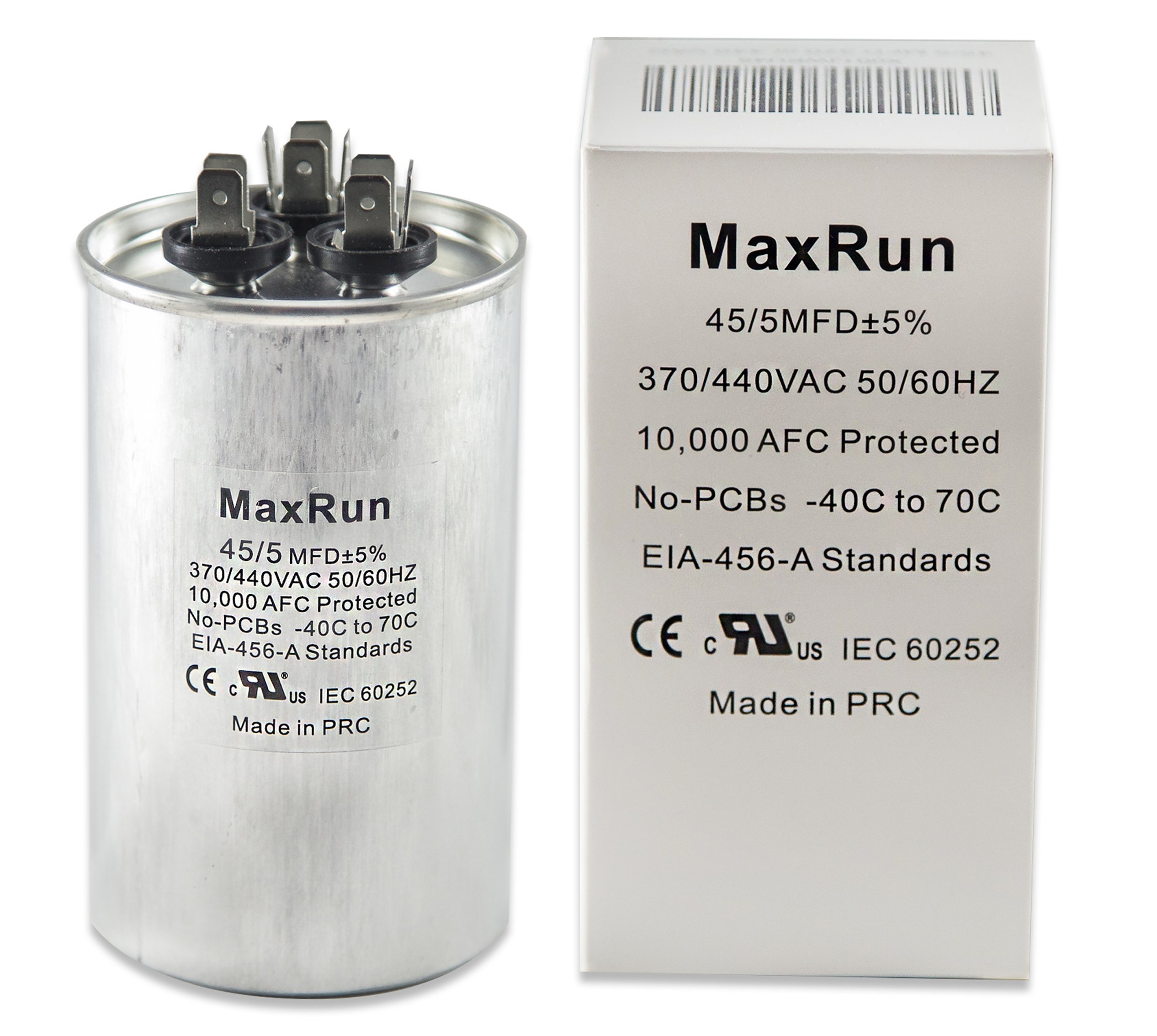 Buy CAPACITOR 45+5 MFD 370 VAC ROUND ONETRIP PARTS DIRECT