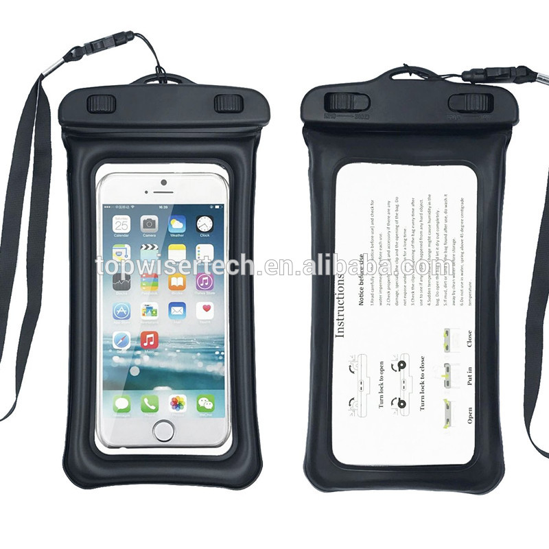 IPX6 grade waterproof PVC waist pouch bag dry bag green black transparent