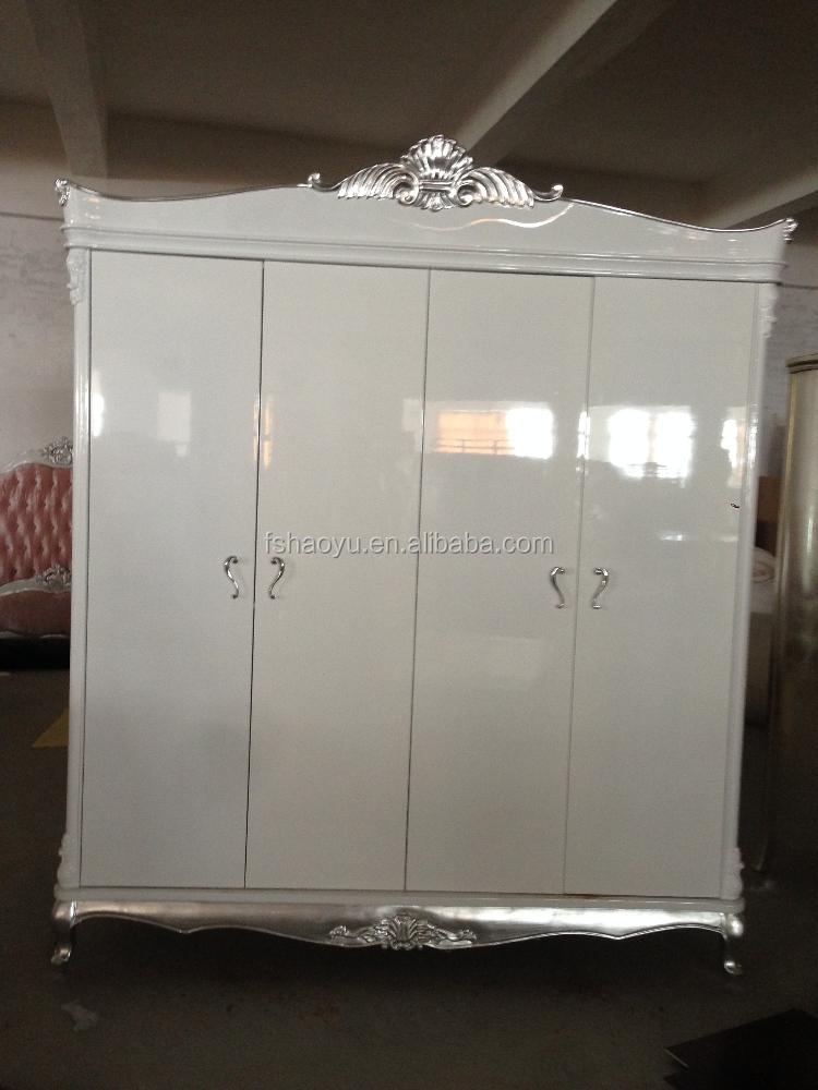 Elegante design di colore bianco camera da letto armadi, legno ...