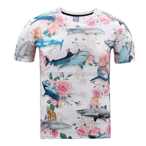 European Style Round Collar Sublimation T-shirt