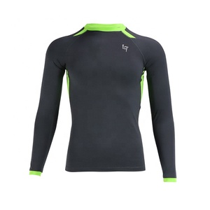 Custom Men Design Long Sleeve Compression Surf Shirts Quick Dry