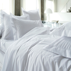 Wholesale 2.5m width plain white cotton fabric for hotel bed linen