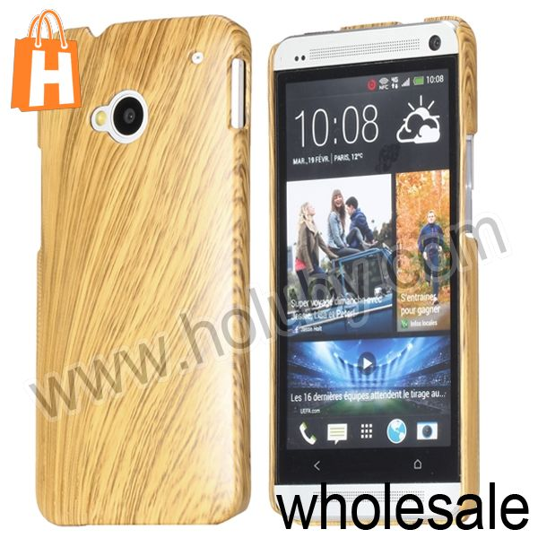China Supplier Wooden Cover Case for HTC One M7,Wooden Hard Case for HTC One M7