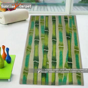 Acrylic Printed Bamboo Pattern Rug