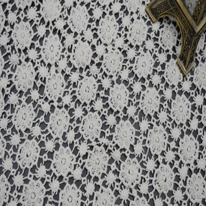 A6-1 white watersolule bulk lace fabric 100% cotton embroidery