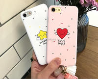 2017 hard pc Cartoon Love /star tassel design pattern phone case cover for iphone 5 6 6 P 7 7p high quality