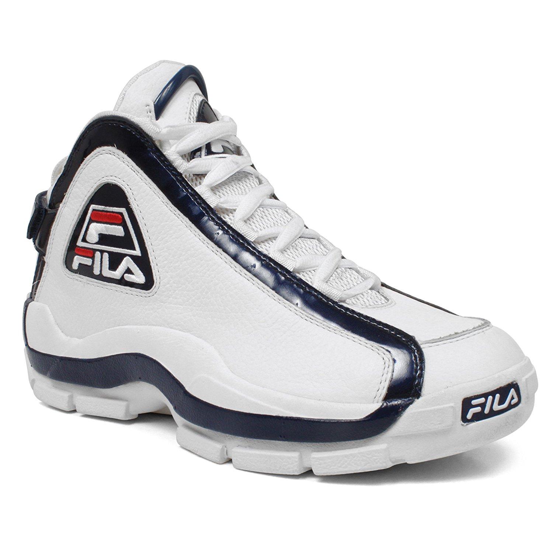 e21f9886 Buy Fila 1VB90031 Men 96 Vintage Basketball Shoes WHT/PCT/CHRED Size ...