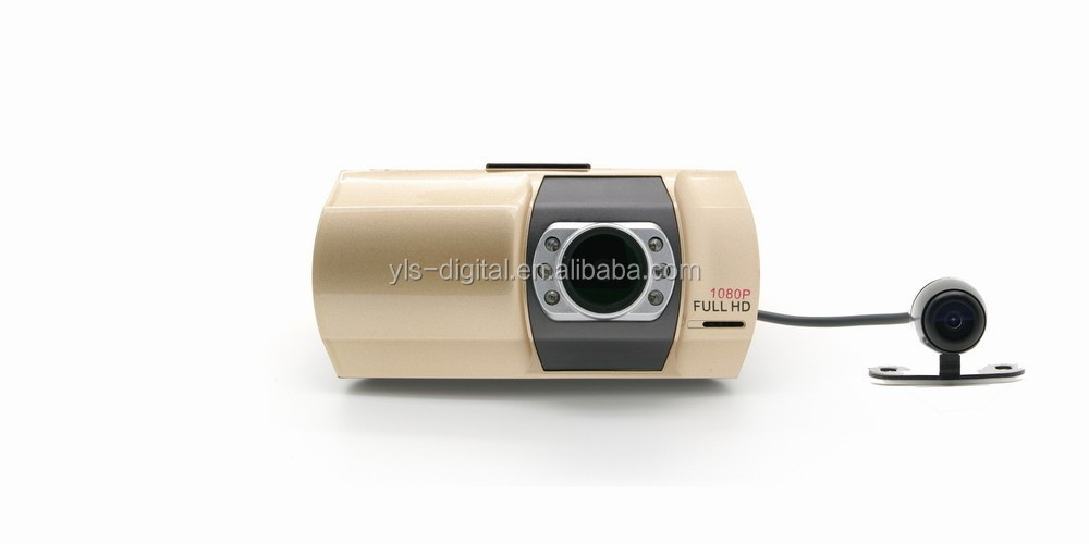 HD 1080p 130 degree 2.7'' touch screen camera dash cam with rear camera
