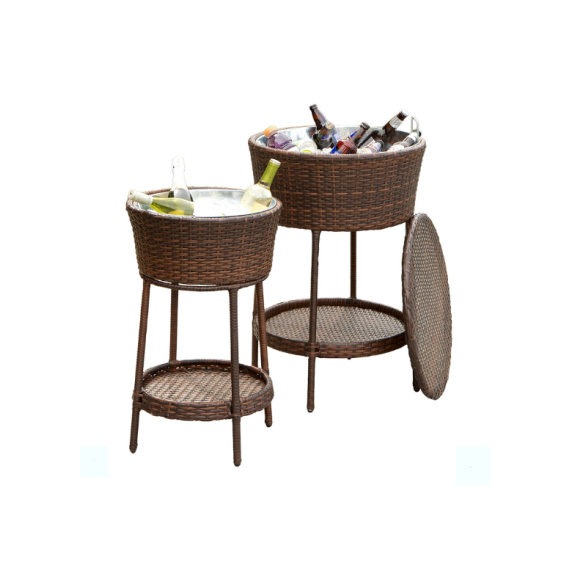 2-teiliges set outdoor wicker led eiskübel für bier china